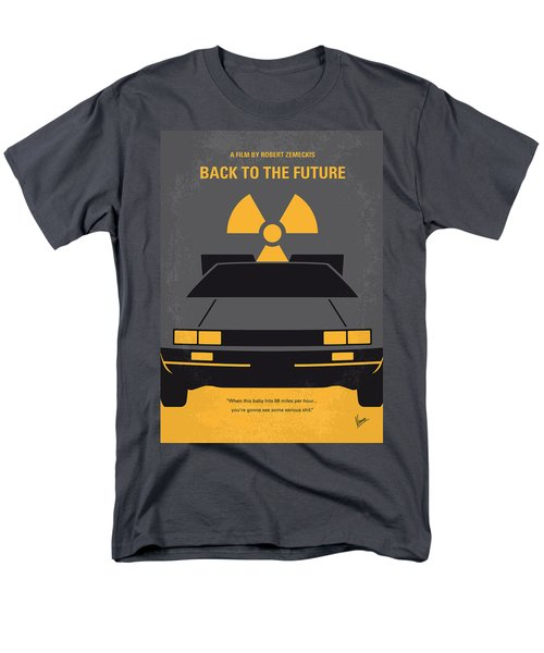No183 My Back to the Future minimal movie poster T-Shirt by Chungkong Art