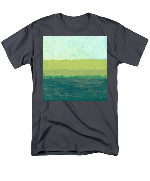 Ocean Blue and Green T-Shirt by Michelle Calkins