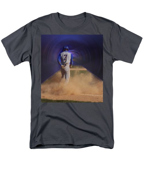 Pop Slide At Third Base T-Shirt by Thomas Woolworth