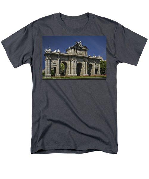 Puerta De Alcala Madrid Spain T-Shirt by Susan Candelario