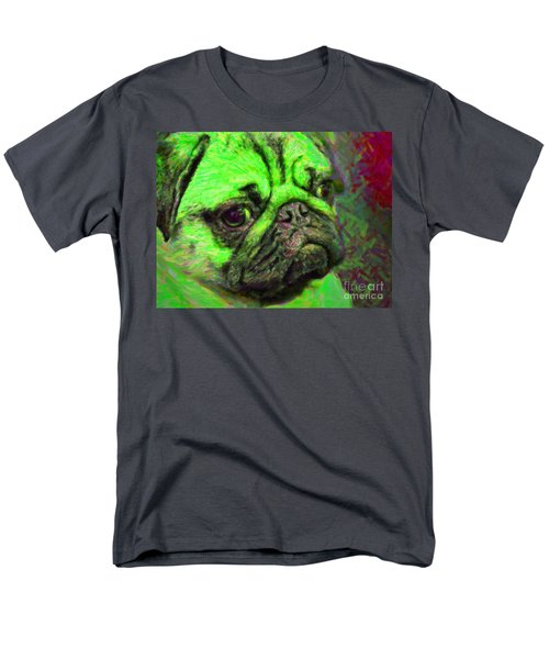 Pug 20130126v4 T-Shirt by Wingsdomain Art and Photography