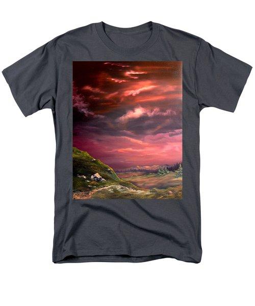 Red Sky At Night Men's T-Shirt  (Regular Fit) by Jean Walker