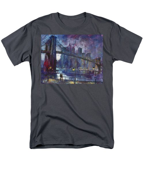 Romance By East River Nyc Men's T-Shirt  (Regular Fit) by Ylli Haruni