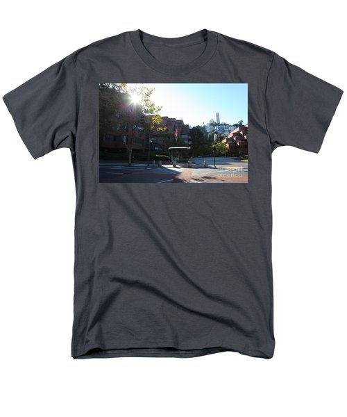San Francisco Coit Tower At Levis Plaza 5D26189 T-Shirt by Wingsdomain Art and Photography