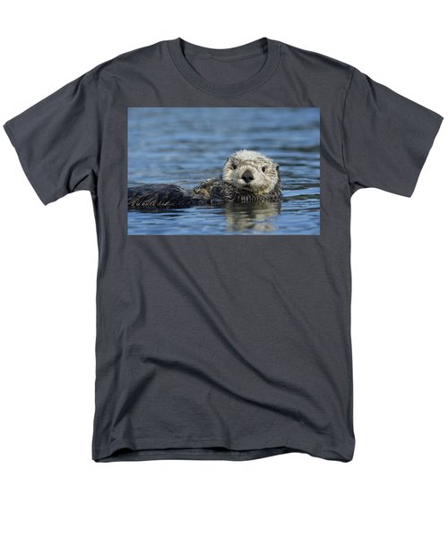 Sea Otter Alaska Men's T-Shirt  (Regular Fit) by Michael Quinton