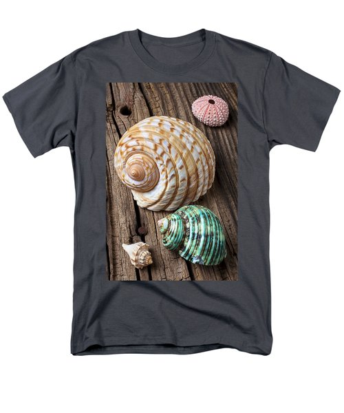 Sea shells with urchin  T-Shirt by Garry Gay