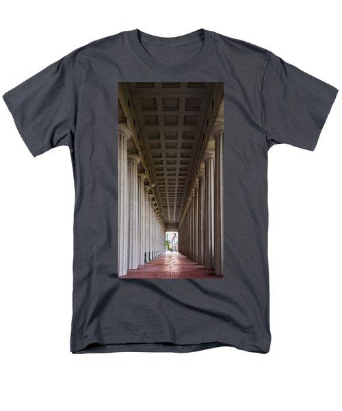 Soldier Field Colonnade Men's T-Shirt  (Regular Fit) by Steve Gadomski