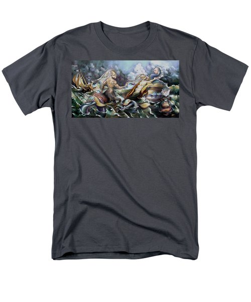 Something Fowl Afloat Redux Men's T-Shirt  (Regular Fit) by Patrick Anthony Pierson