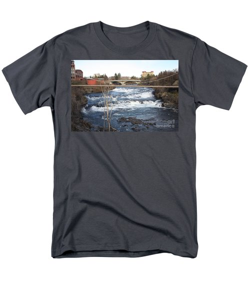 Spokane Falls in Winter T-Shirt by Carol Groenen
