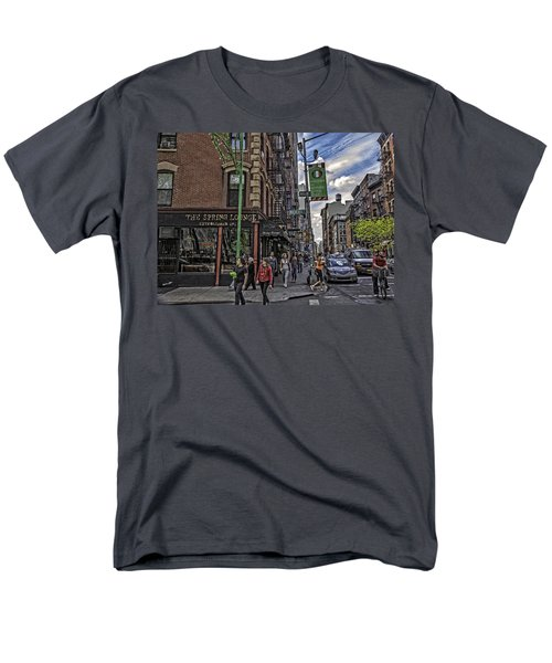 Spring and Mulberry - Street Scene - NYC T-Shirt by Madeline Ellis