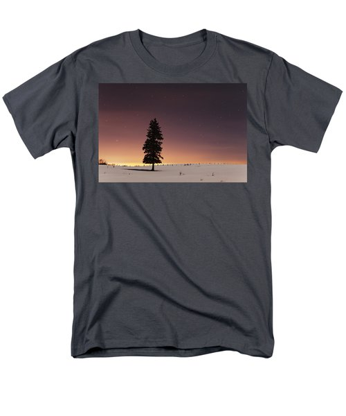 Stars In The Night Sky With Lone Tree T-Shirt by Susan Dykstra