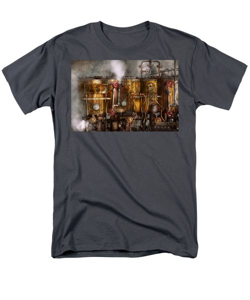 Steampunk - Plumbing - Distilation apparatus  T-Shirt by Mike Savad