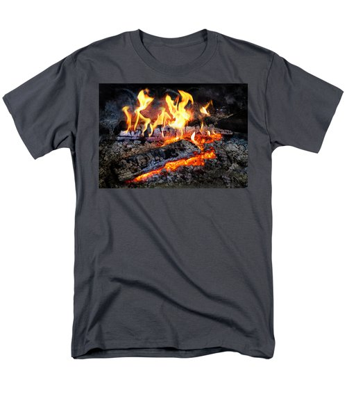 Stove - The Yule log  T-Shirt by Mike Savad