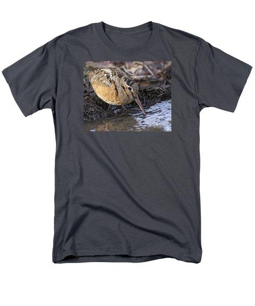 Streamside Woodcock Men's T-Shirt  (Regular Fit) by Timothy Flanigan