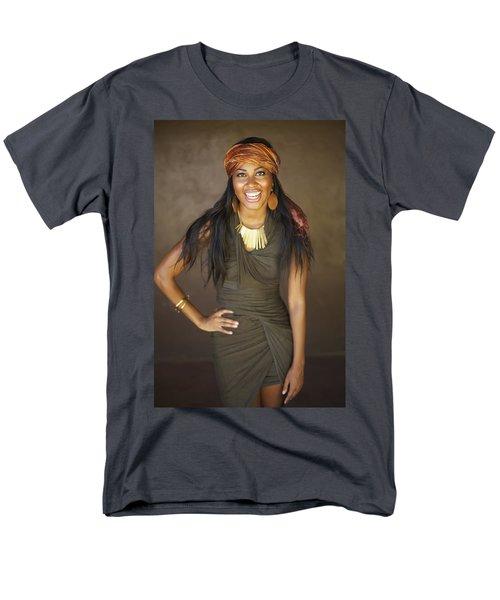 Studio Portrait of African American Model T-Shirt by Kicka Witte