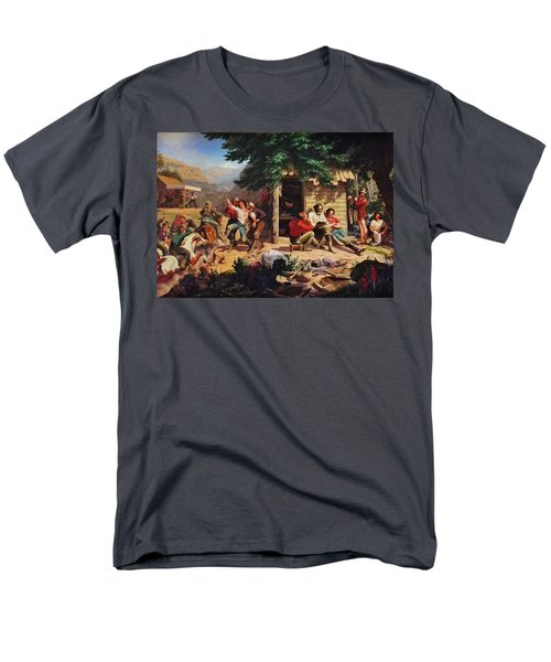 Sunday Morning In The Mines T-Shirt by Charles Nahl