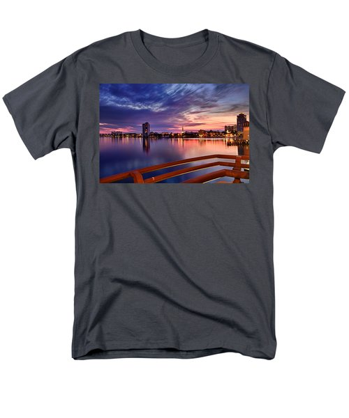 Sunset Balcony of the West Palm Beach Skyline T-Shirt by Debra and Dave Vanderlaan