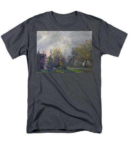 Sunset in a Foggy Fall Day T-Shirt by Ylli Haruni
