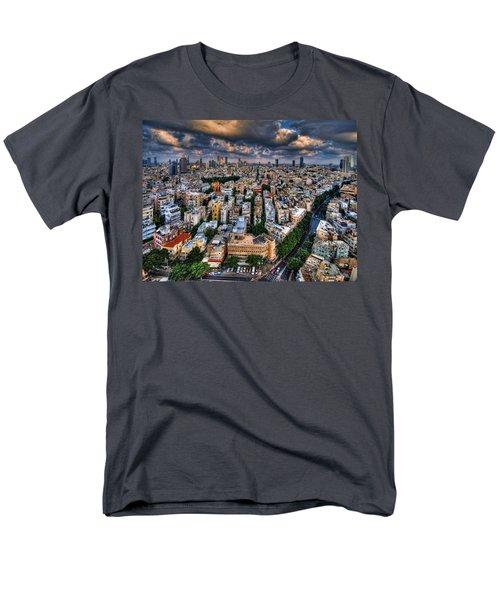 Tel Aviv Lookout Men's T-Shirt  (Regular Fit) by Ron Shoshani