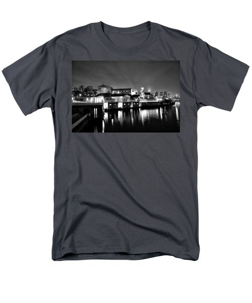 The Philadelphia Waterworks in Black and White T-Shirt by Bill Cannon