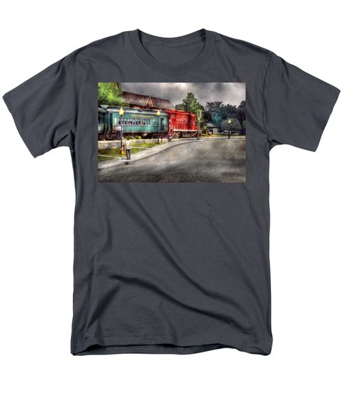 Train - Engine - Black River Western T-Shirt by Mike Savad