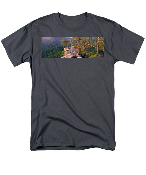 Trees On A Mountain, Buzzards Roost Men's T-Shirt  (Regular Fit) by Panoramic Images