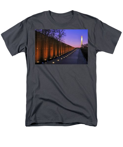 Vietnam Veterans Memorial At Sunset Men's T-Shirt  (Regular Fit) by Pixabay