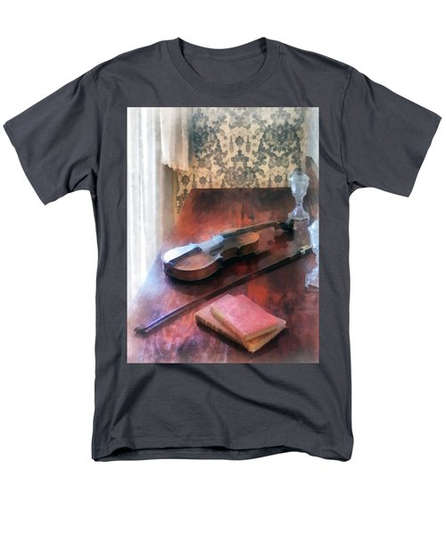 Violin on Credenza T-Shirt by Susan Savad