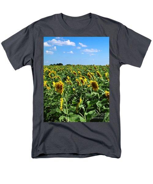 Windblown Sunflowers T-Shirt by Robert Frederick