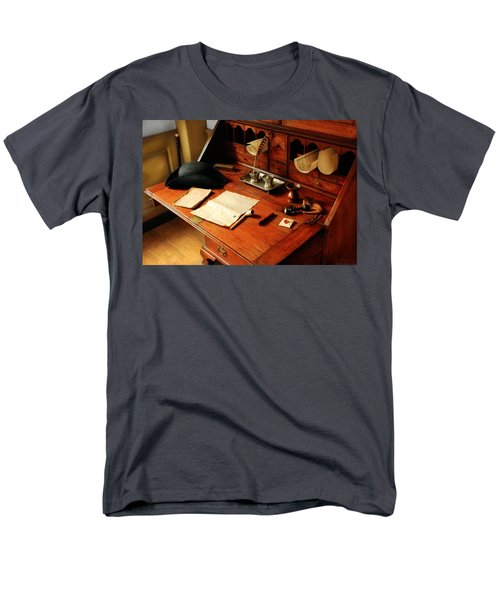 Writer - The desk of a gentleman  T-Shirt by Mike Savad