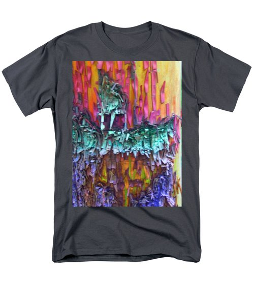 Men's T-Shirt  (Regular Fit) featuring the digital art Ancient Footsteps by Richard Laeton