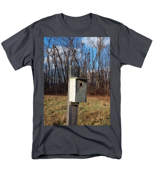 birdhouse on a pole T-Shirt by Robert Margetts