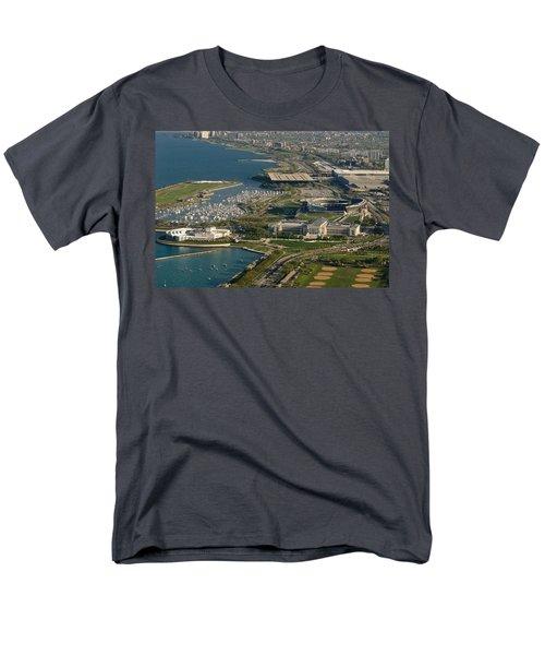 Chicagos Lakefront Museum Campus Men's T-Shirt  (Regular Fit) by Steve Gadomski