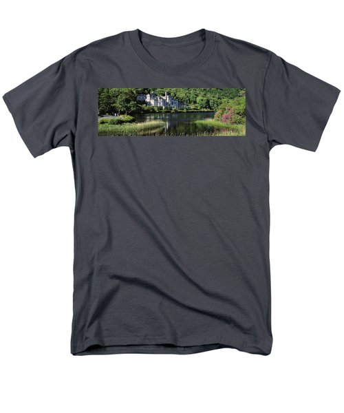 Church Near A Lake, Kylemore Abbey T-Shirt by The Irish Image Collection