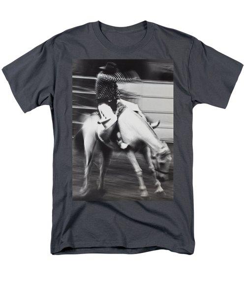 Cowboy riding bucking horse  T-Shirt by Garry Gay
