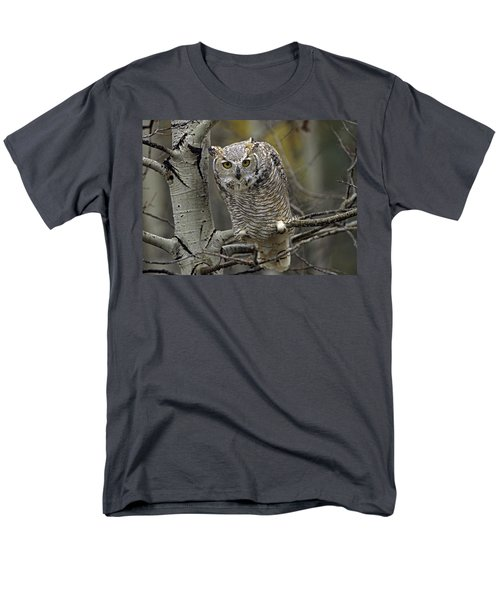 Great Horned Owl Pale Form Kootenays T-Shirt by Tim Fitzharris