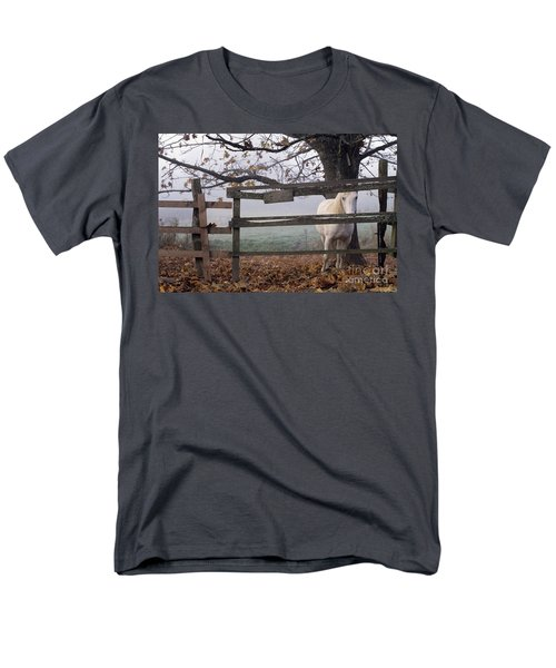Horse at Fence T-Shirt by Jim Corwin and Photo Researchers