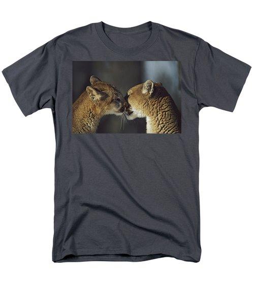 Mountain Lion Felis Concolor Cub T-Shirt by David Ponton