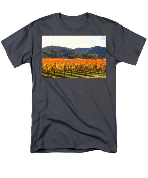 Napa Valley Vineyard in Autumn Colors T-Shirt by Wingsdomain Art and Photography