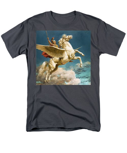 Pegasus The Winged Horse Men's T-Shirt  (Regular Fit) by Fortunino Matania