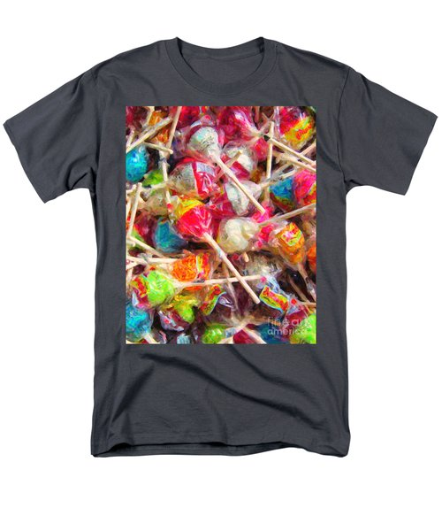 Pile of Lollipops - Painterly T-Shirt by Wingsdomain Art and Photography