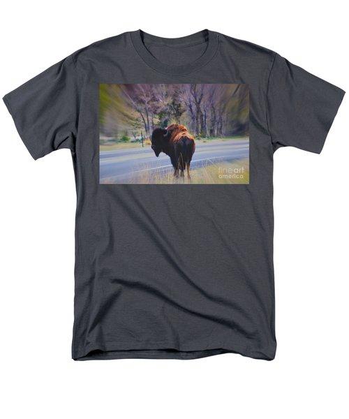 Single Buffalo in Yellowstone NP T-Shirt by Susanne Van Hulst