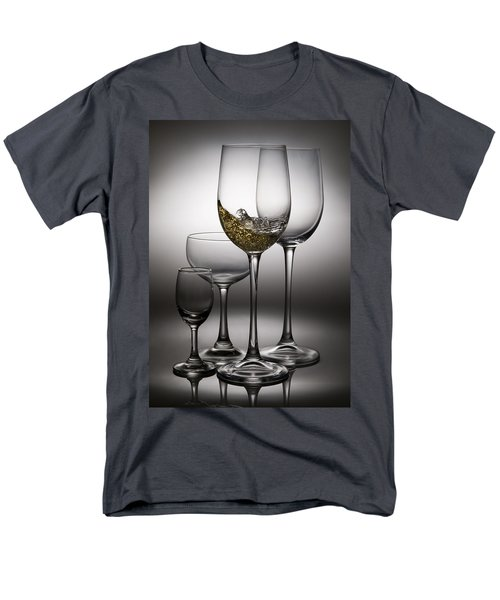 splashing wine in wine glasses T-Shirt by Setsiri Silapasuwanchai