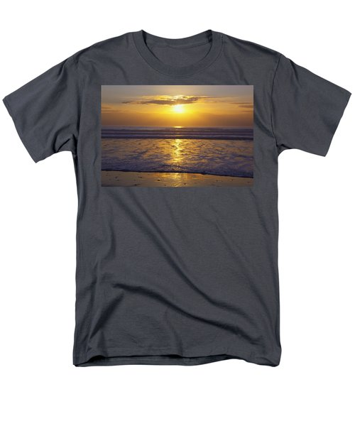 Sunset Over The Pacific Ocean Along The T-Shirt by Craig Tuttle