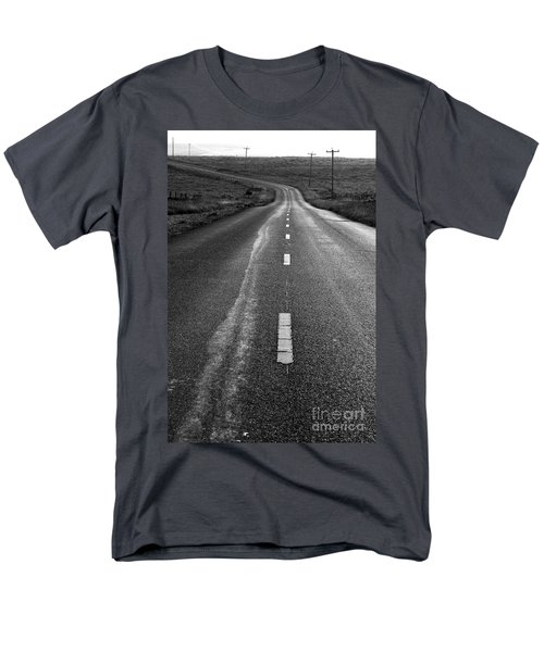 The Long Road Home . 7D9898 . Black and White T-Shirt by Wingsdomain Art and Photography
