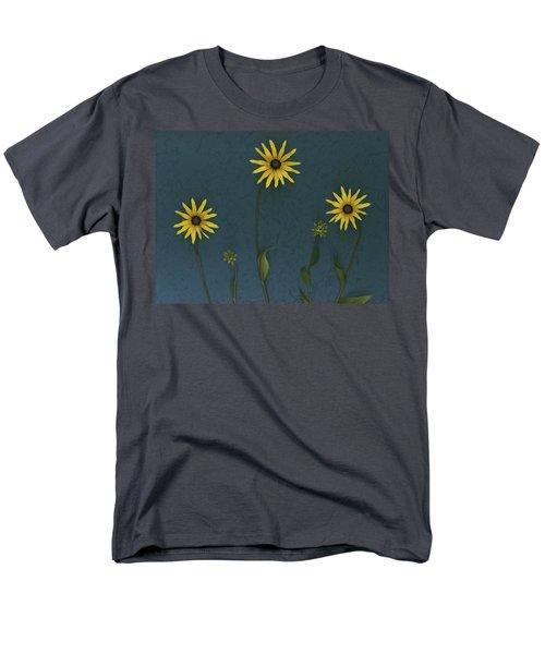 Three Yellow Flowers T-Shirt by Deddeda