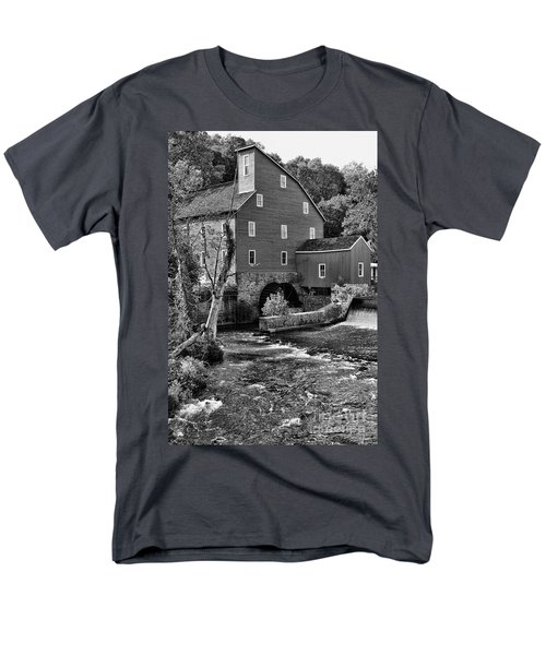 Vintage Mill in Black and White T-Shirt by Paul Ward