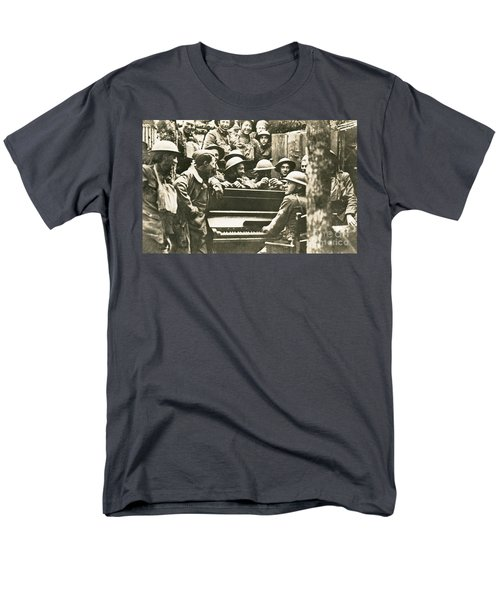 Yankee Soldiers Around A Piano T-Shirt by Photo Researchers