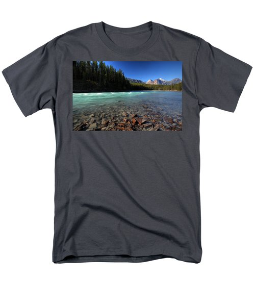 Athabasca River in Jasper National Park T-Shirt by Mark Duffy