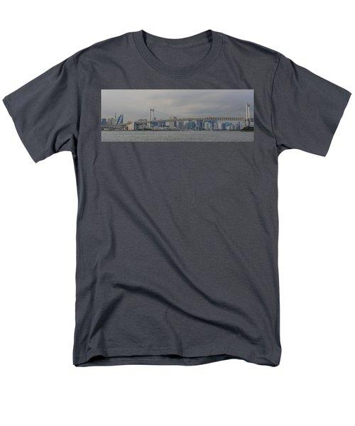 Rainbow Bridge Men's T-Shirt  (Regular Fit) by Megan Martens